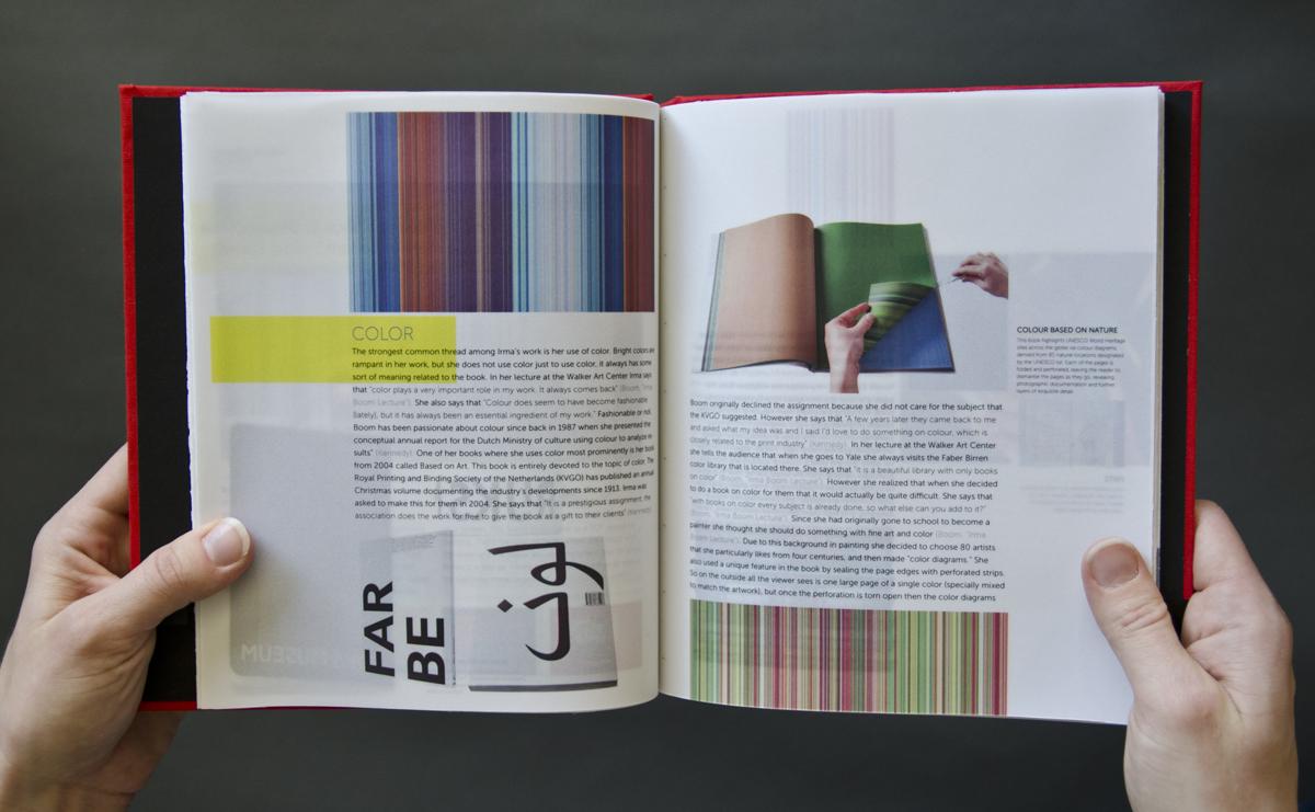 Jenni Hansma Graphic Designer 187 Irma Boom Book